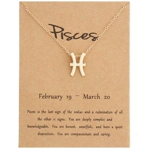 PISCES Gold Charm Necklace - New